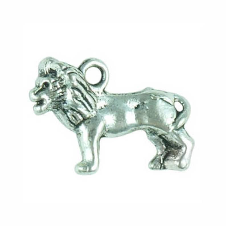BULK 20 Silver Lion Charm by TIJC SP0309B