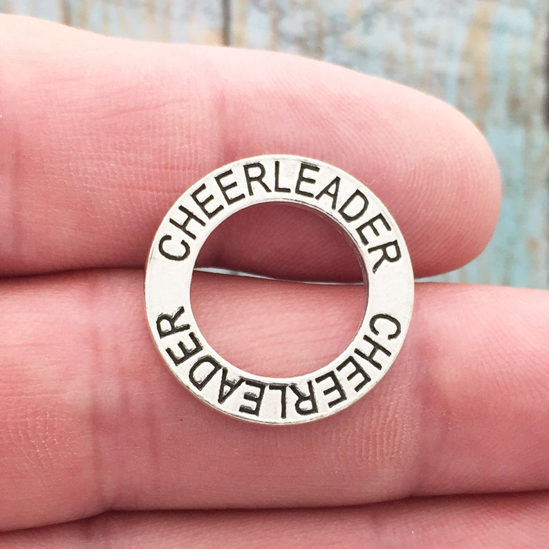 5 Affirmation Circle Cheerleader Charm by TIJC SP0562