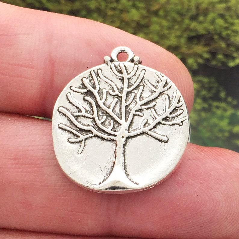 BULK 10 Tree of Life Charm Pendant Silver by TIJC SP1534B