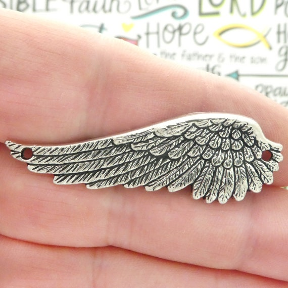 3D ANGEL WING Bracelet Bird Feathers Charm Pendant solid 925 Sterling Silver