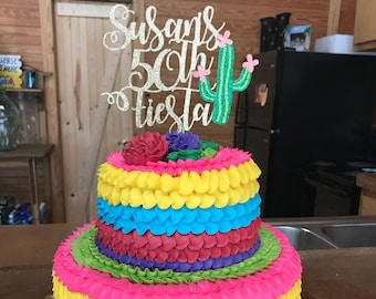 Welcome Baby Girls Boys Birthday Party Cake Decor Supplies Mexican Fiesta Theme Party Decorations Dalaber Acrylic Final Fiesta Cake Topper