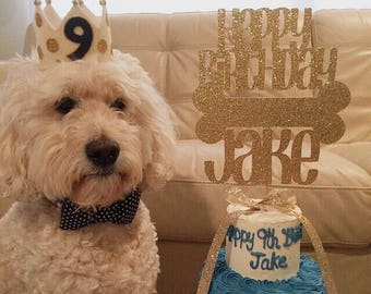 Dog Birthday Party Decorations Pet Cake Topper