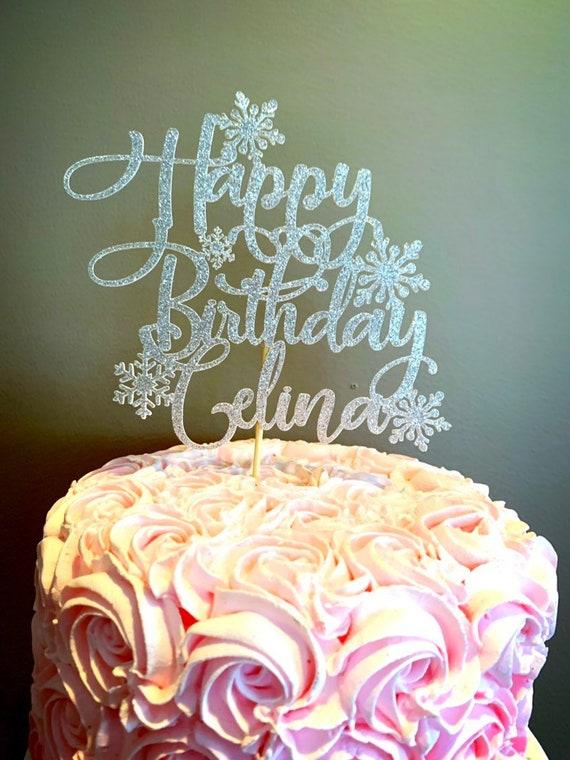 Awesome Snowflake Birthday Frozen Birthday Frozen Cake Topper Etsy Funny Birthday Cards Online Fluifree Goldxyz