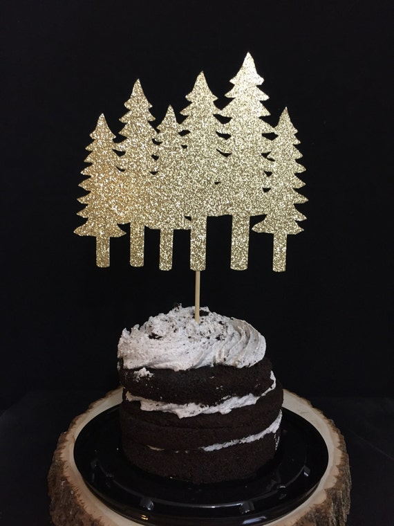 Christmas Tree Cake Topper Party Decorations Farm