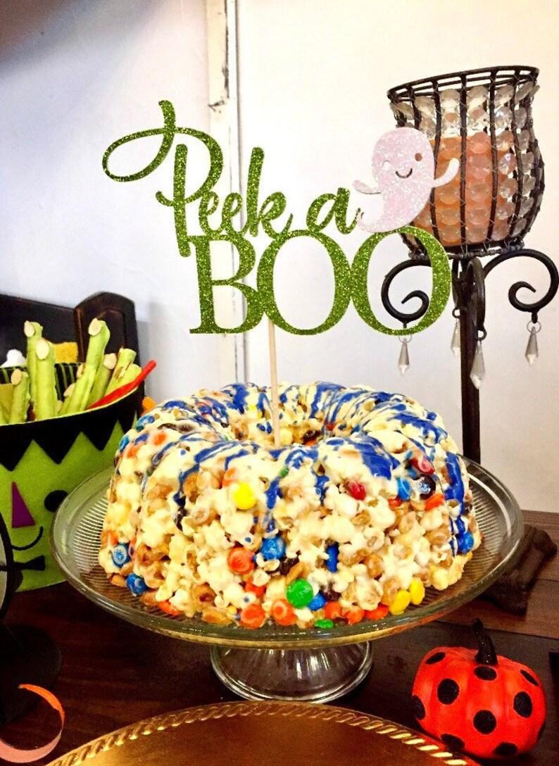 Halloween Baby Shower Ideas Decorations.Peek A Boo Cake Topper Peek A Boo Baby Shower Baby Shower Cake Topper Halloween Cake Topper Halloween Baby Shower Theme Peek A Boo