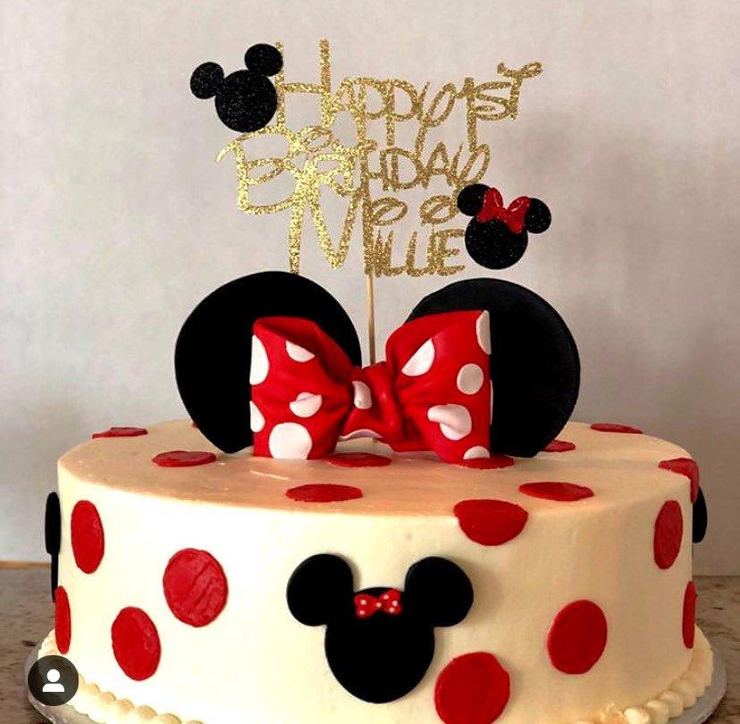 Minnie Mouse De G 226 Teau De G 226 Teau Danniversaire G 226 Teau Etsy