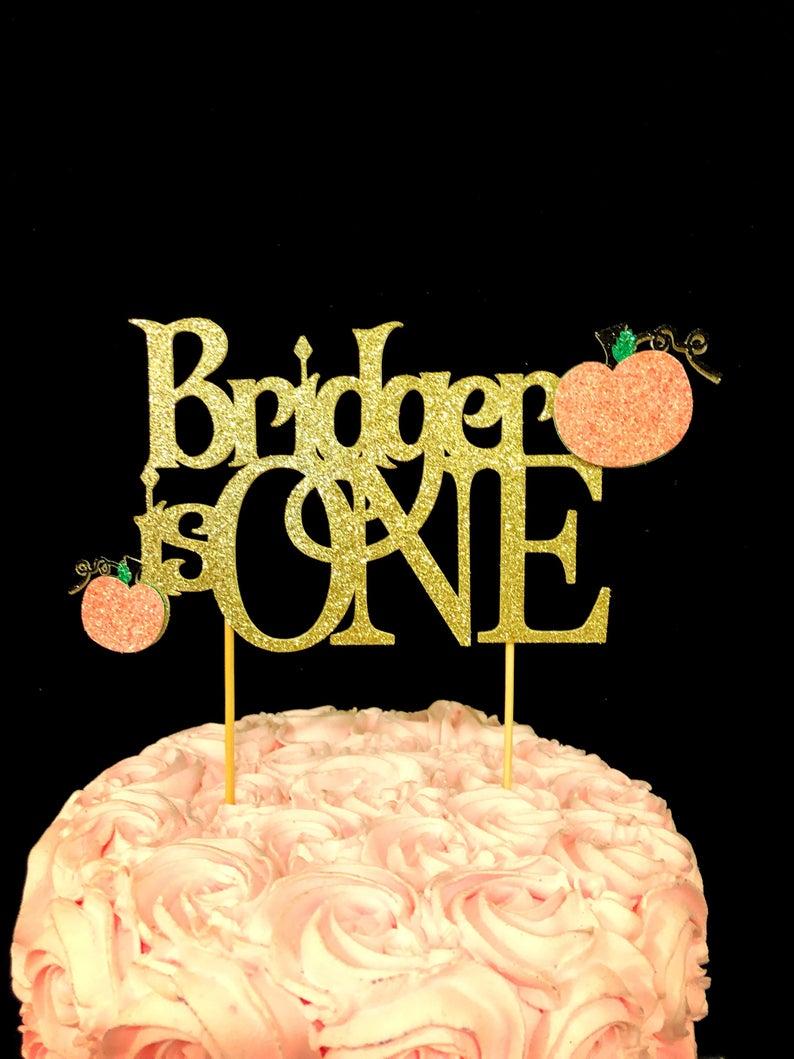 pumpkin cake topper, pumpkin birthday cake topper, pumpkin decorations, pumpkin party decorations, pumpkin birthday