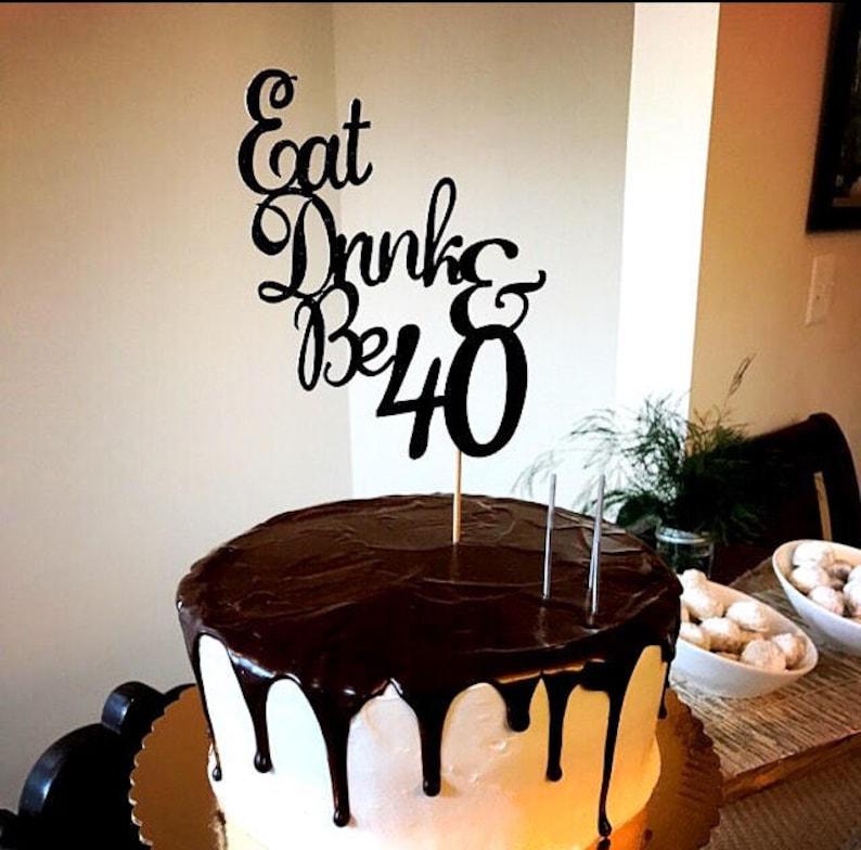 40 Geburtstag Kuchen Deckel 40 Kuchen Deckel Essen Trinken Etsy