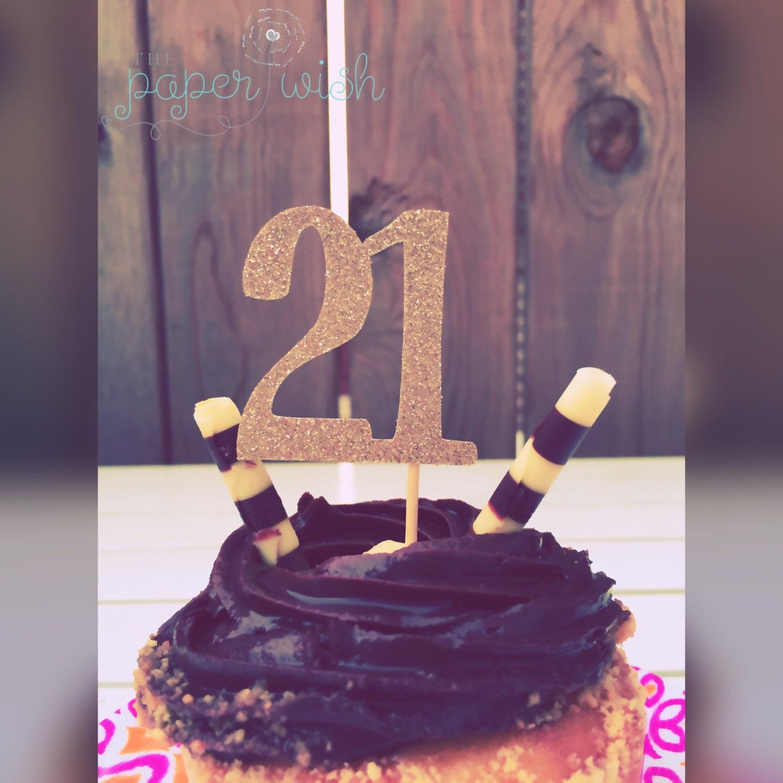 toppers de cupcake de cumpleaños 21 toppers cupcake 21