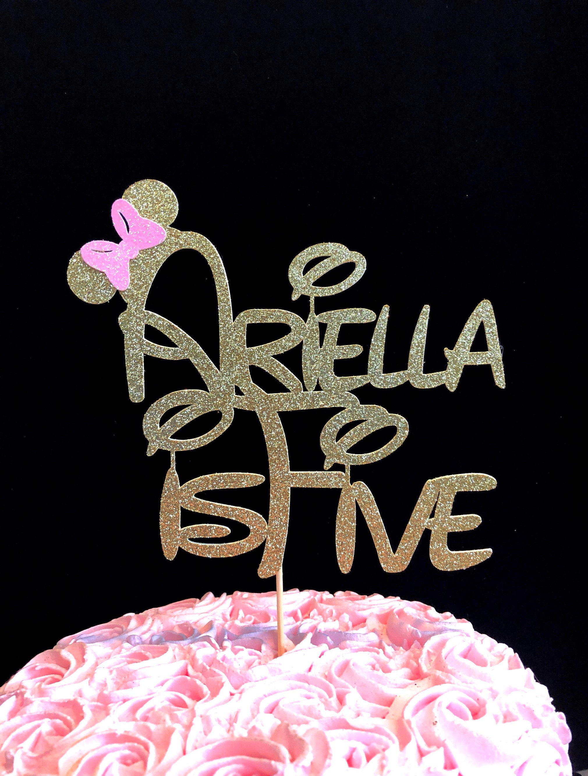 Five Minnie Mouse Cake Topper 5th Birthday
