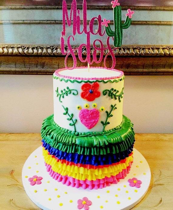 Peachy Fiesta Cake Topper Fiesta 2Nd Birthday Fiesta 2Nd Birthday Etsy Funny Birthday Cards Online Elaedamsfinfo
