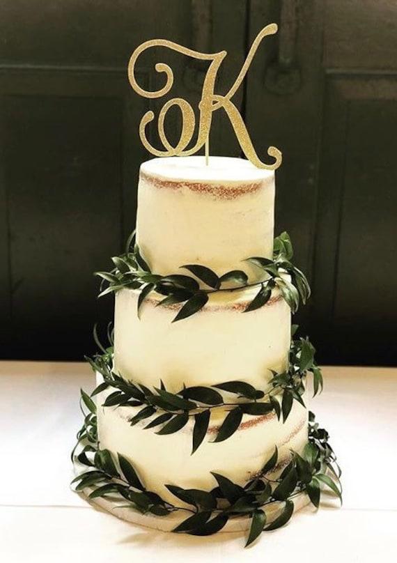Monogram Cake Topper Initial Cake Topper Custom Cake Topper | Etsy