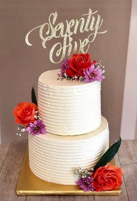 Seventy Five Cake Topper 75 75th Birthday