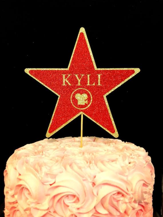 Peachy Hollywood Star Cake Topper Hollywood Birthday Star Birthday Etsy Funny Birthday Cards Online Elaedamsfinfo