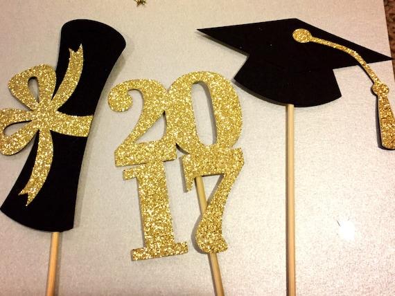 graduation centerpiece sticks 2017 graduation party party etsy