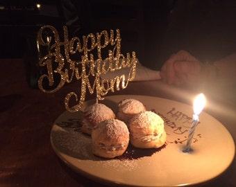 happy birthday cake topper, birthday cake topper, personalized birthday cake topper, small cake topper, small birthday cake topper, decor