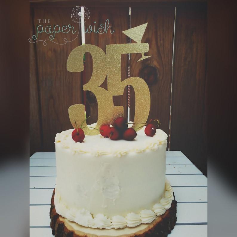 35th Birthday Cake Topper 35