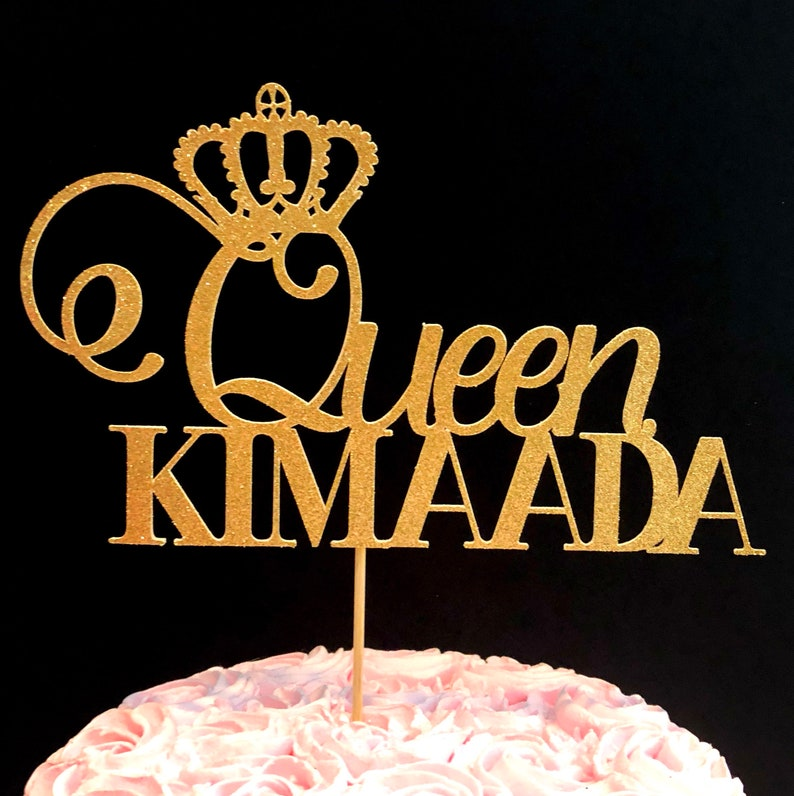Queen Cake Topper Decorations Decor
