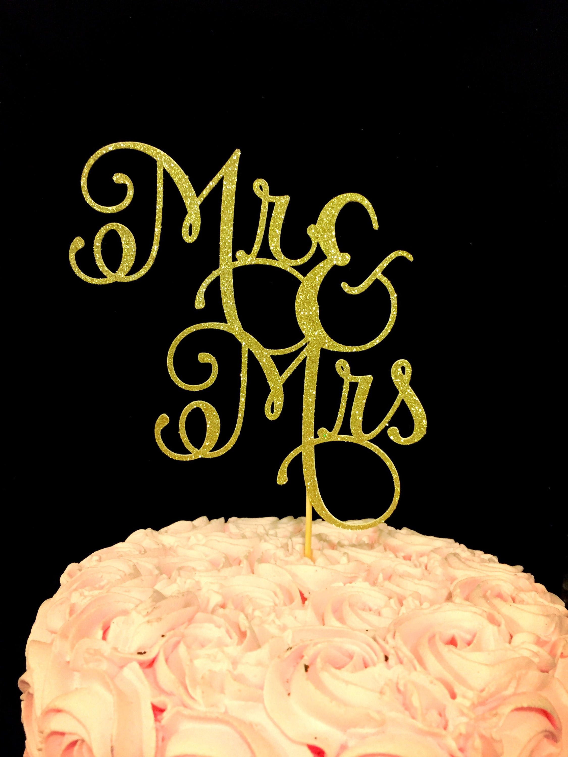 Mr and Mrs cake topper Mr & Mrs cake topper wedding cake | Etsy