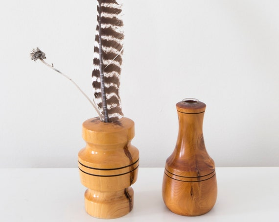 Wooden Vase Set of Two