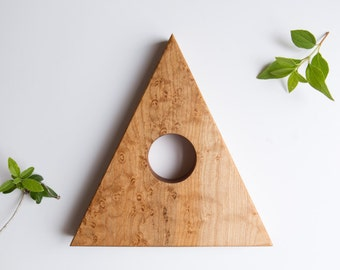 Moon Mountain Decorative Standing Piece in Birds-Eye Maple by Studio Palomino