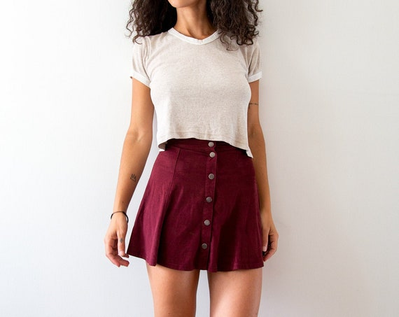 Soft Tulip Velvet Spinner Skirt