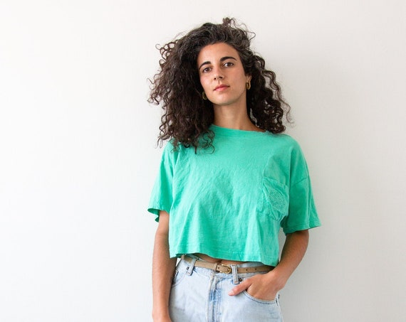 Short Wave Cotton Midriff Tee