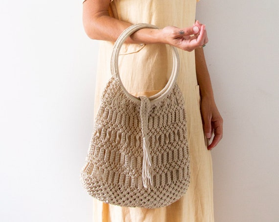 New Moon Macrame Bag