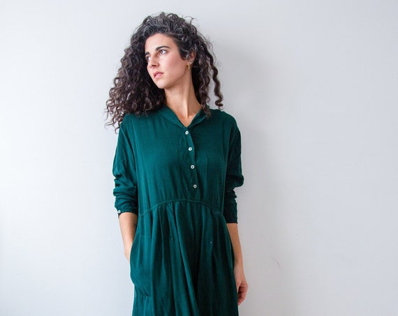 Forest Green Vintage Yule Gown