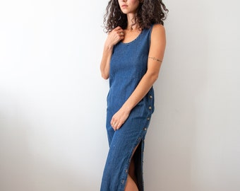 Denim Dust Sleeveless Dress