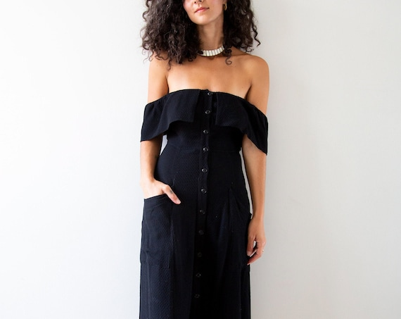 Midnight Picnic Drop Shoulder Dress