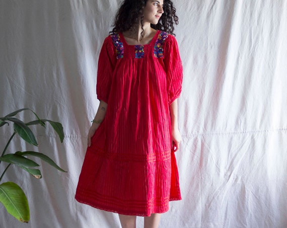 Red Garden Mexican Gown