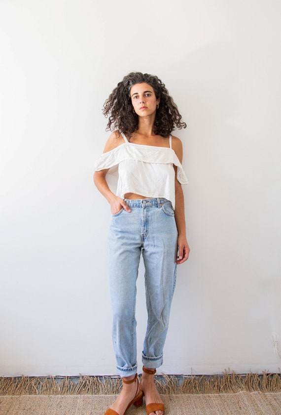 Faded Levi's 550 Workroom Jeans