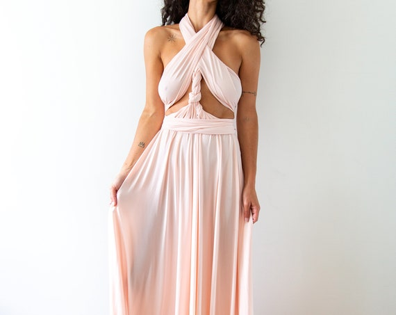 Pink Mountain Goddess Gown