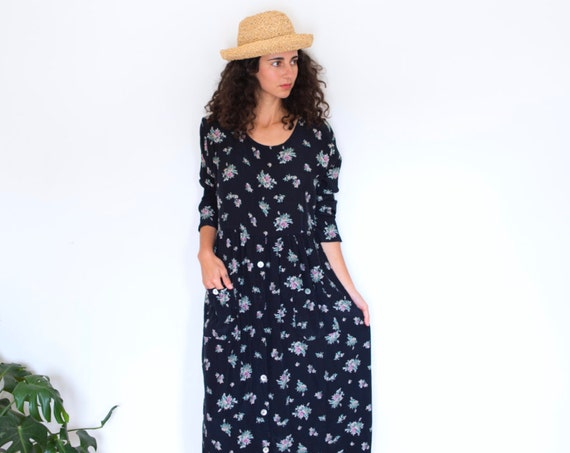 Witches Garden Floral Maxi Dress