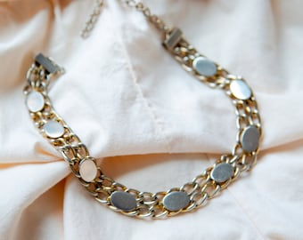 Golden Dash Choker Chain Necklace