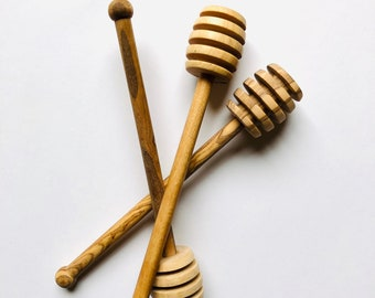 Olive Wood Honey Dippers