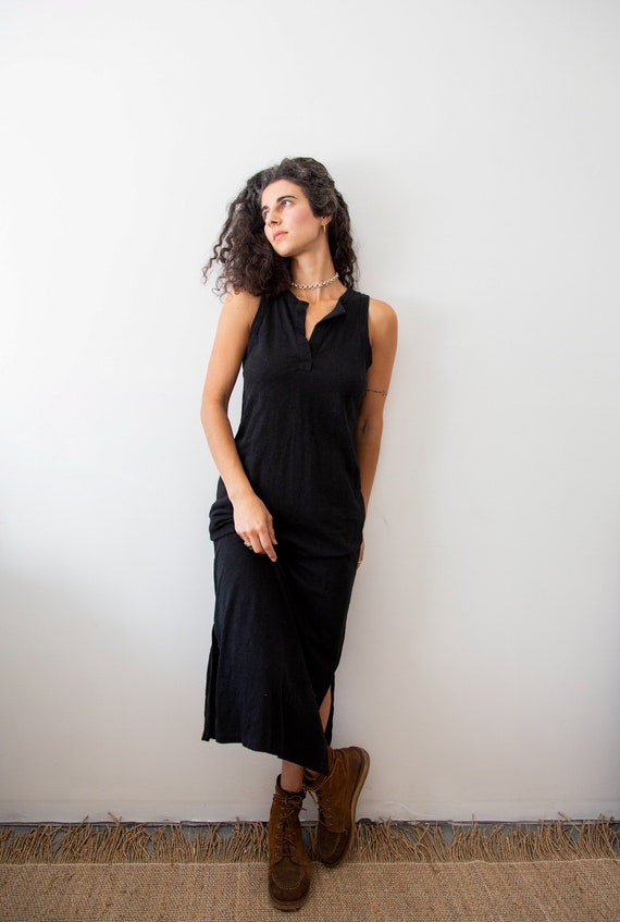 Everyday Black Cotton Maxi Gown