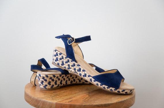 Woven Seaside Platform Sandals - Size 7.5
