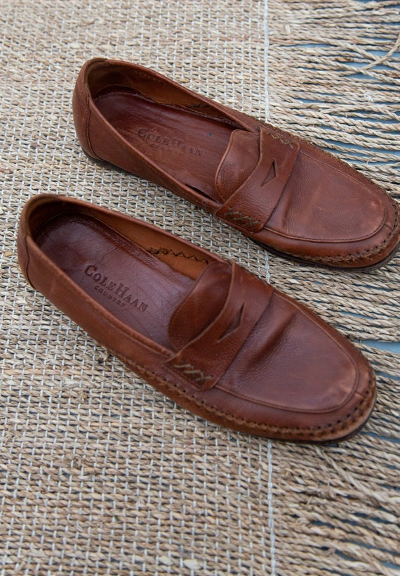 Soft Leather Day Loafers - Size 8.5