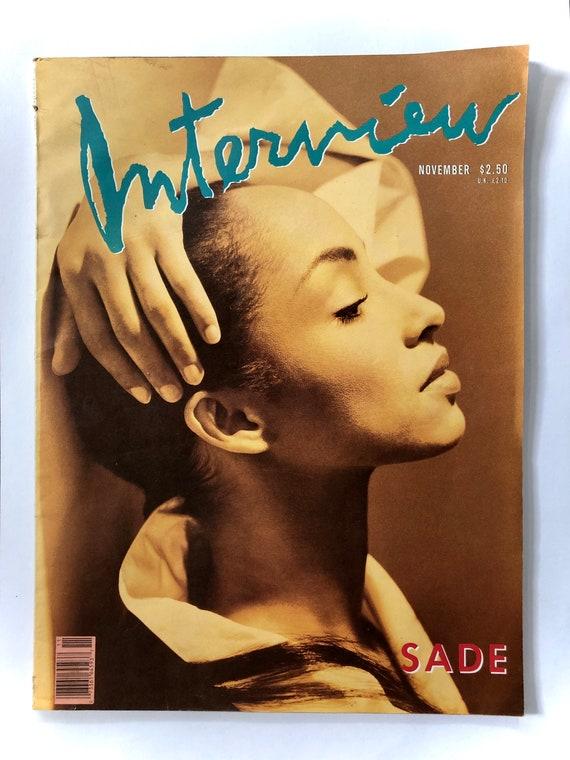 Interview Magazine - Featuring SADE - 1988