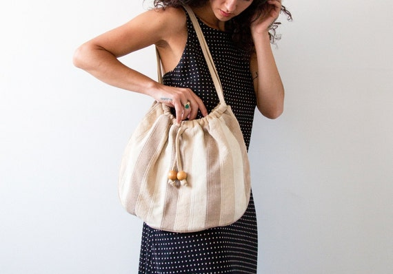Sand + Stripe Cotton Carry All