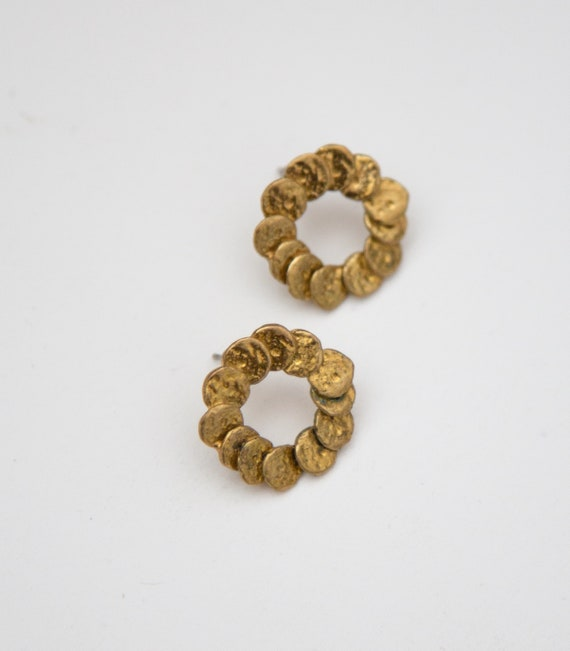 Golden Wreath Stud Earrings