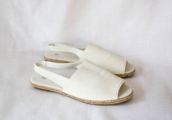 White Wing Slingback Flats