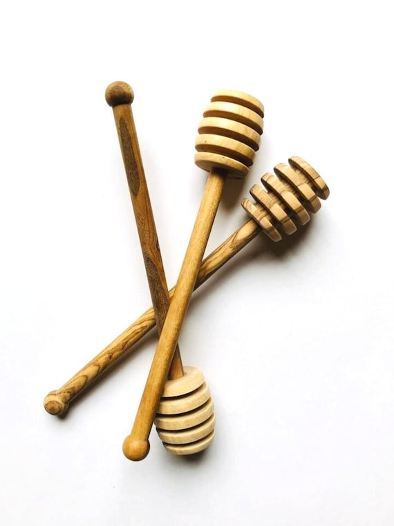 Moroccan Olive Wood Honey Dipper