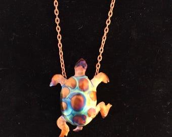 "Turtle Pendant on 18"" chain"