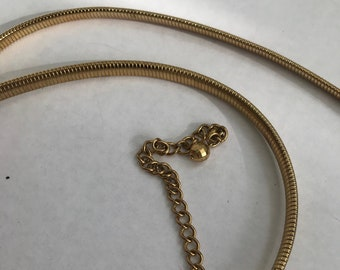 Vintage Heavy Gold Rope Chain Belt