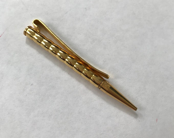 Vintage Tiny Brass Pocket Pencil