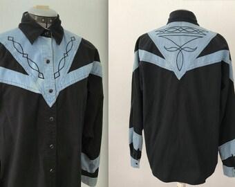 1993 Adobe Rose Western Shirt