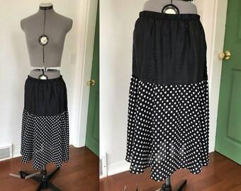 Vintage Black and White Polka Dot Slip